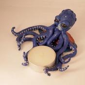 Octopus Candle Tea Light Holder Sea Life Blue Ocean Animals Themed Handmade