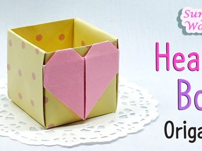 Origami - Heart Box, Gift Box (How to make a Paper box)