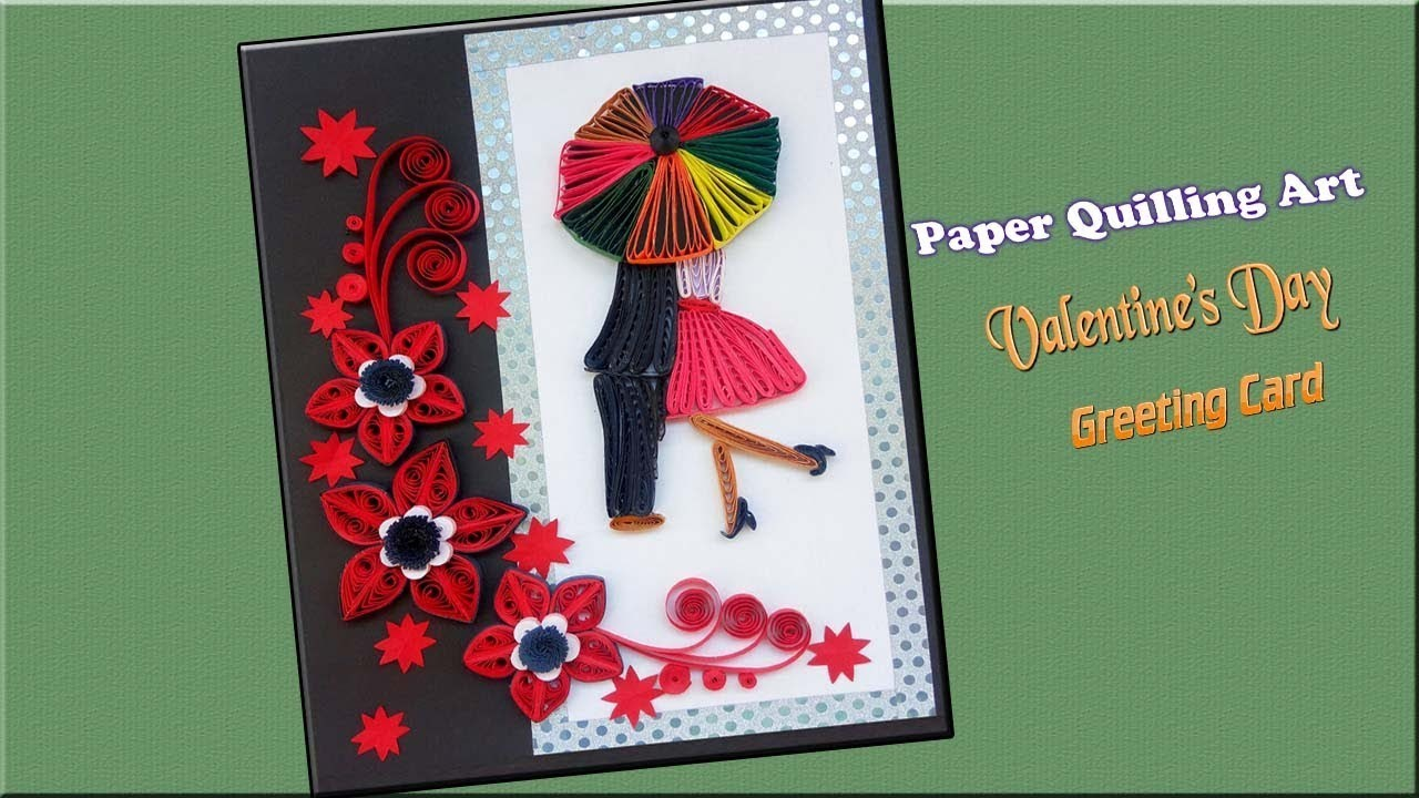 Paper Art Quilled Love Card Valentines Day Greeting Card Paper