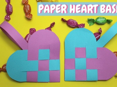 Paper Heart Basket | Valentine Crafts for Kids