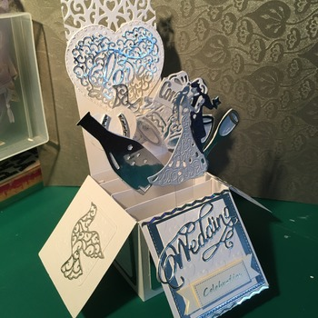 Pop-up Box cards for weddings Anniversaries or engagements made to order