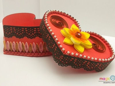 Quilling gift box ideas | DIY heart for valentine | valentines day special | handmade heart box