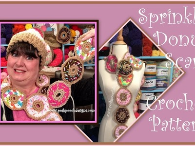 Sprinkle Donut Scarf Crochet Pattern