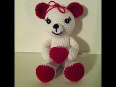 වැලන්ටයින් ටෙඩි බෙයා ගොතමු Part 1 - Crochet Valentin Teddy Bear Sinhala