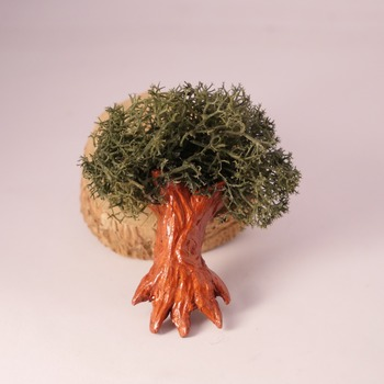 Tree Fridge Magnet Nature Reindeer Moss Handmade Cute Brown Fimo Home Decor