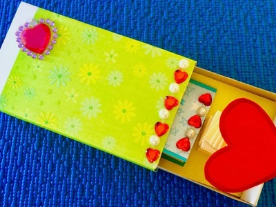 Valentine's card from matchbox. How to make valentine's day greeting card