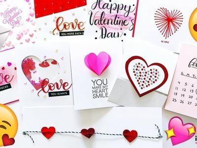 10 VALENTINE'S DAY CARD Ideas that Are QUICK and EASY | DIY Cards From the Heart