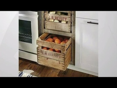 2 crate DIY ideas for a farmhouse kitchen aesthetic