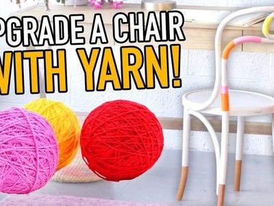 3 DIY Ways to Upcycle a Chair With YARN! - HGTV Handmade