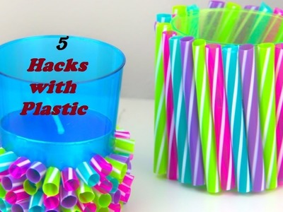 5 Hacks with Plastic    DIY Video