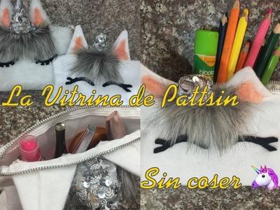 Cartuchera unicornio sin coser, unicorn organizer without sewing