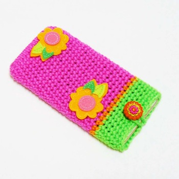 Crochet Phone Case, Crochet Cell Phone Cover, Handmade Crochet Mobile Phone Pouch Holder Sleeve, Phone Accessory, Gift for Anybody, ANY SIZE