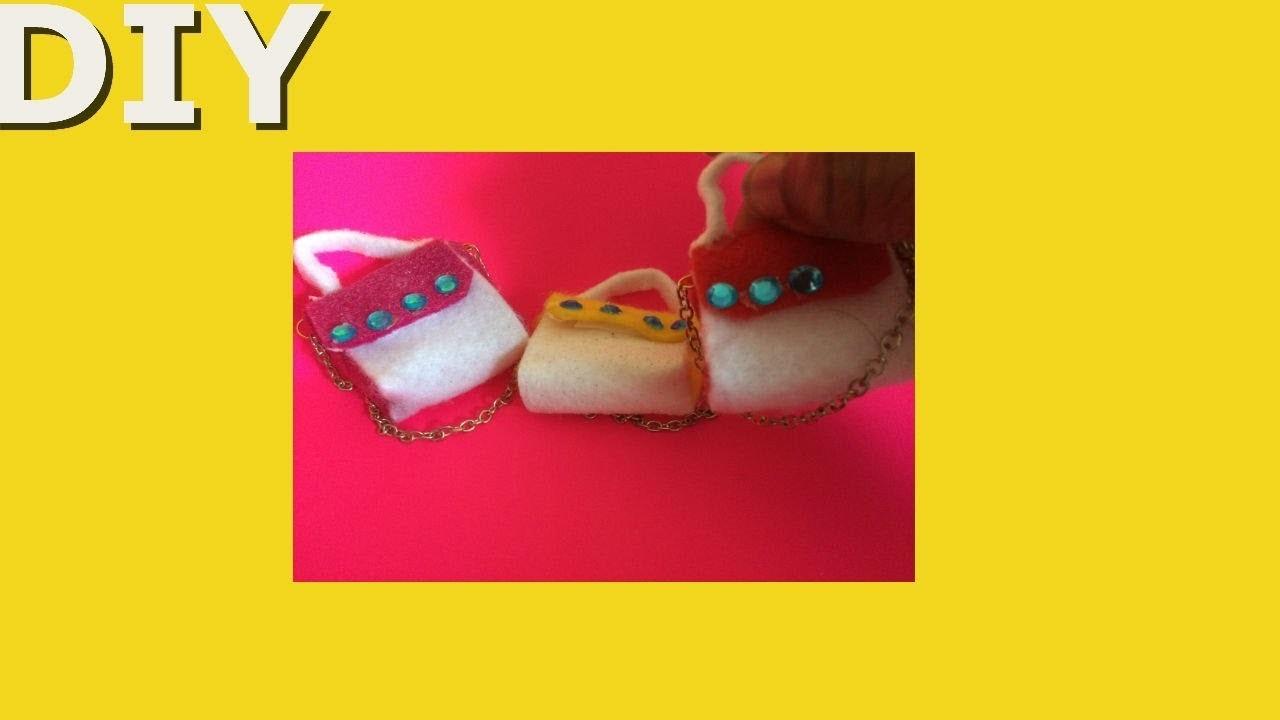 Cute DIY Miniature Doll Bag.Purse | How to make Handbag Tutorial