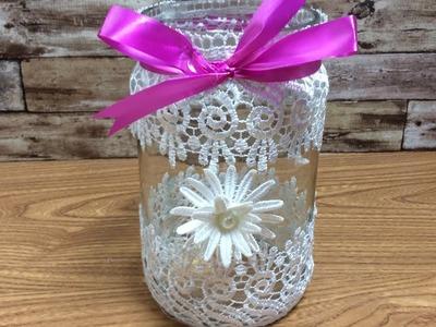 Diy Beauty Jar- Ribbon Decoration