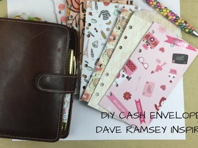 DIY CASH ENVELOPES DAVE RAMSEY INSPIRED