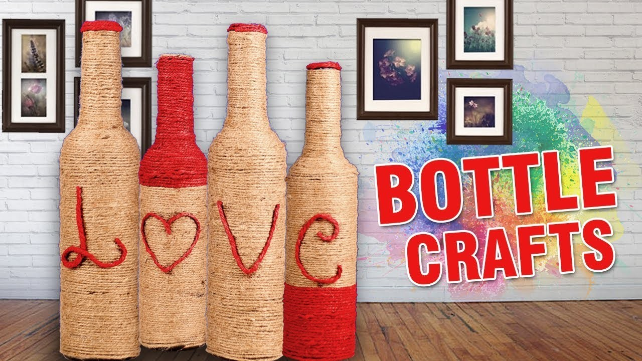 DIY Crafts With Bottles | Best Out Of Waste Ideas With Bottles | #ValentinesDay | Easy DIY Crafts