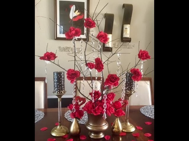 DIY Dollar Tree Roses Branch Project Centerpieces Creating Elegance For Less Faithlyn McKenzie 2018