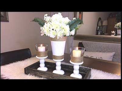 DIY DOLLAR TREE SPRING CENTERPIECE AND CHIT CHAT 2018