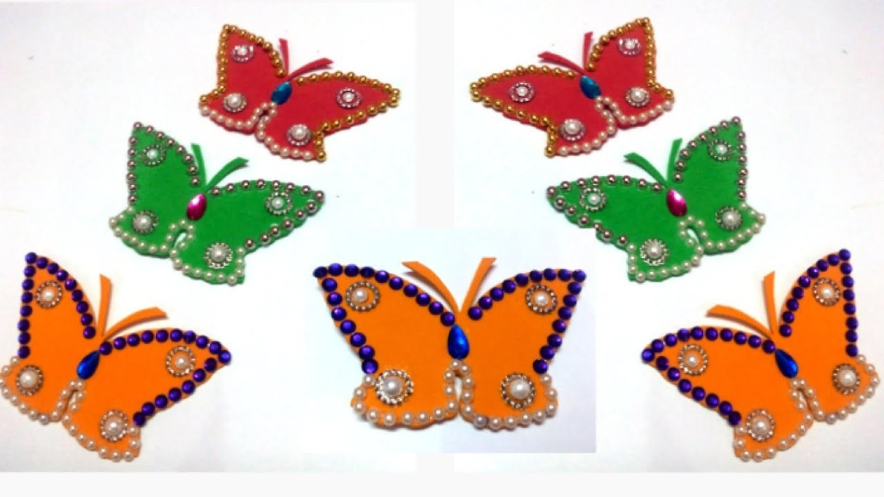DIY :Easy Butterfly making -Wall.Room Decoration idea