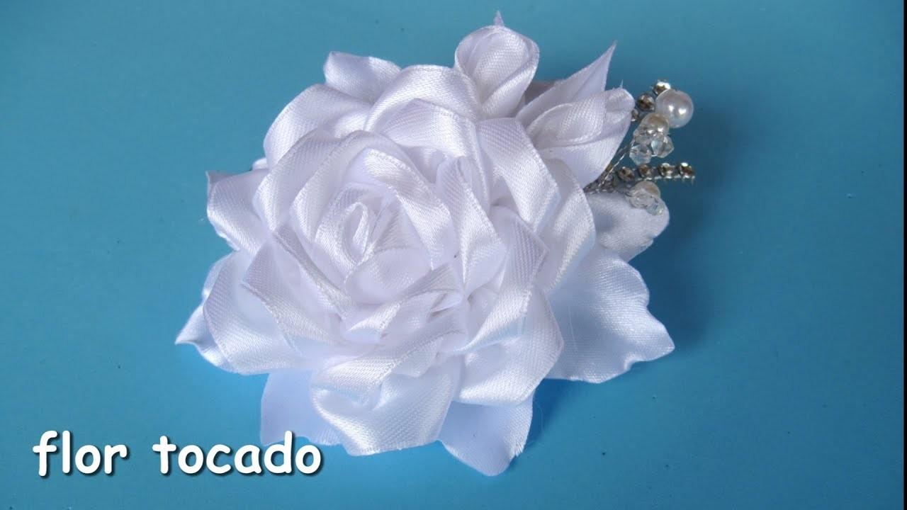 DIY - Flor tocado niña de comunión  - Flower headdress communion girl