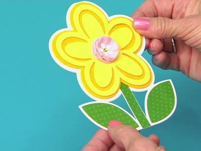 DIY Flower Card  | Sizzix