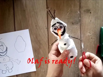 DIY How to make Olaf using recycled materials