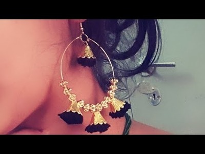 (DIY)HOW TO MAKE WOLLEN THREAD JHUMKA.EARRINGS.JHUMKA.THE STUNNING HANDMADE'S.