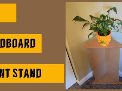 DIY: Indoor Plant stand.Flower vase stand |How to build a plant stand out of cardboard
