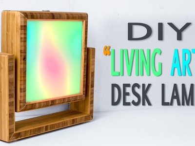 "DIY ""Living Art"" Table Lamp || How to Make"