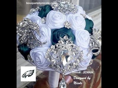 DIY Make Your Own Brooch Bouquet  l Philadelphia Eagles l Kit JENNA