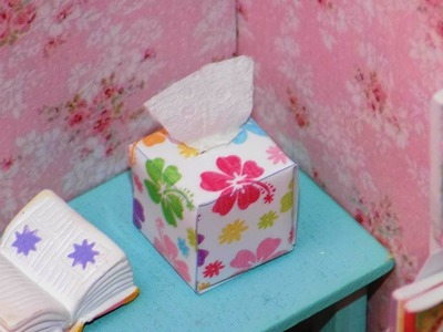 DIY Miniature Dollhouse Tissue Box - How to Make Miniature Dollhouse Things