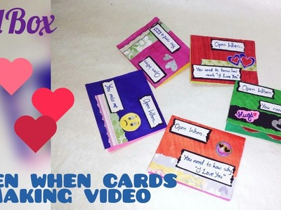 DIY open when cards making | how to make open when cards | best valentine's day gift ideas