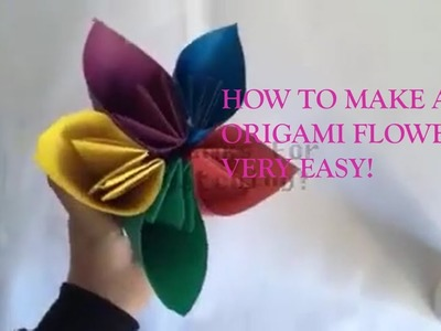 How To Make An Easy Origami Flower Pot Flowers Healthy
