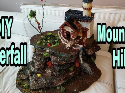 DIY Room Decor Idea| DIY Waterfall Mountain Hill Table Top: