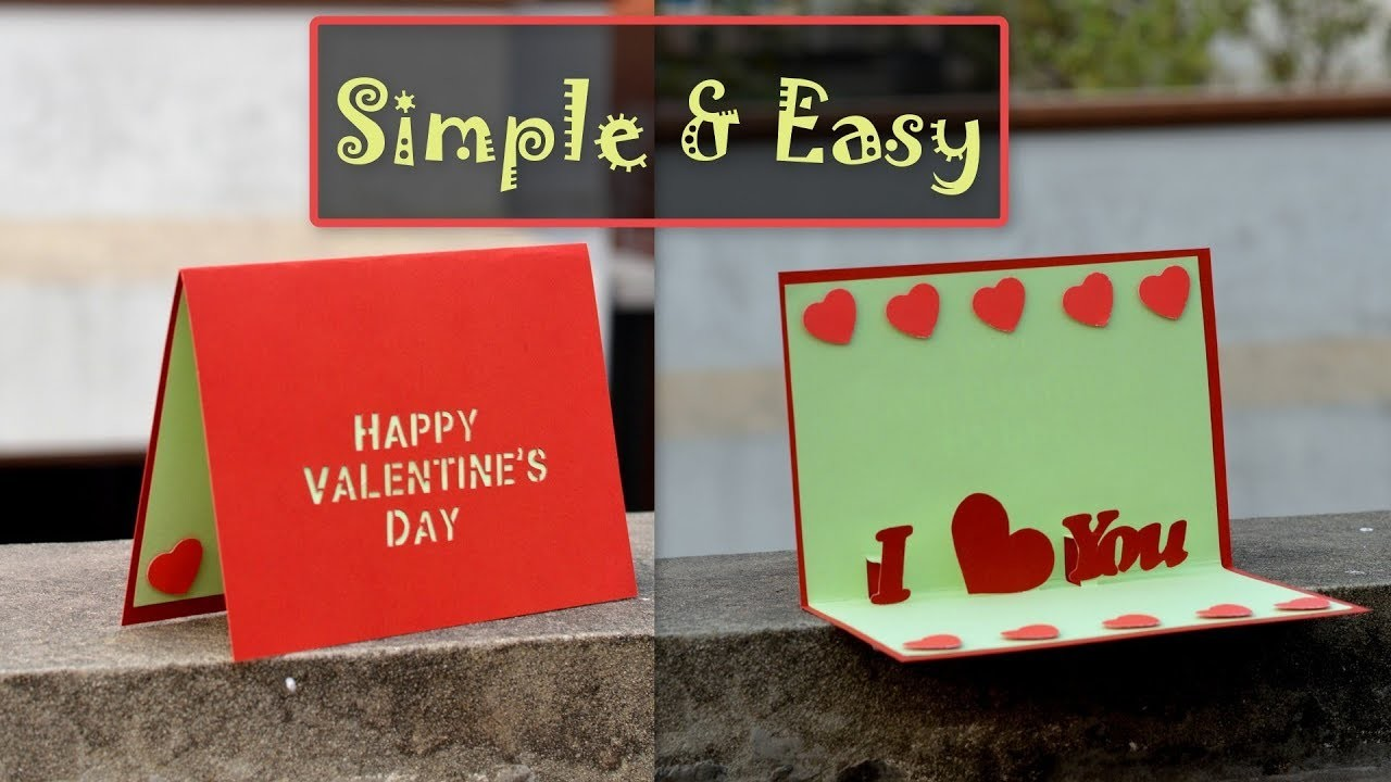 DIY - Simple & Easy Valentine's Day Pop up Card | I Love You | Proposal Card