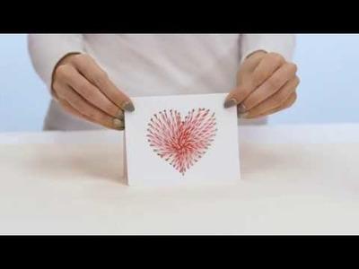 DIY String Art Valentine's Day Card