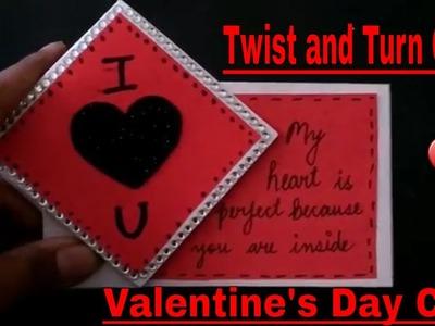 DIY Twist and Turn Valentine's Day Card.