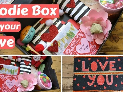 DIY Valentine's day.Birthday Gift Goodie box.Care package for your boyfriend.girlfriend.husband.wife