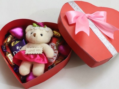 DIY Valentine's day gift Idea. DIY Heart shape Box. How to make chocolate box. DIY Love box