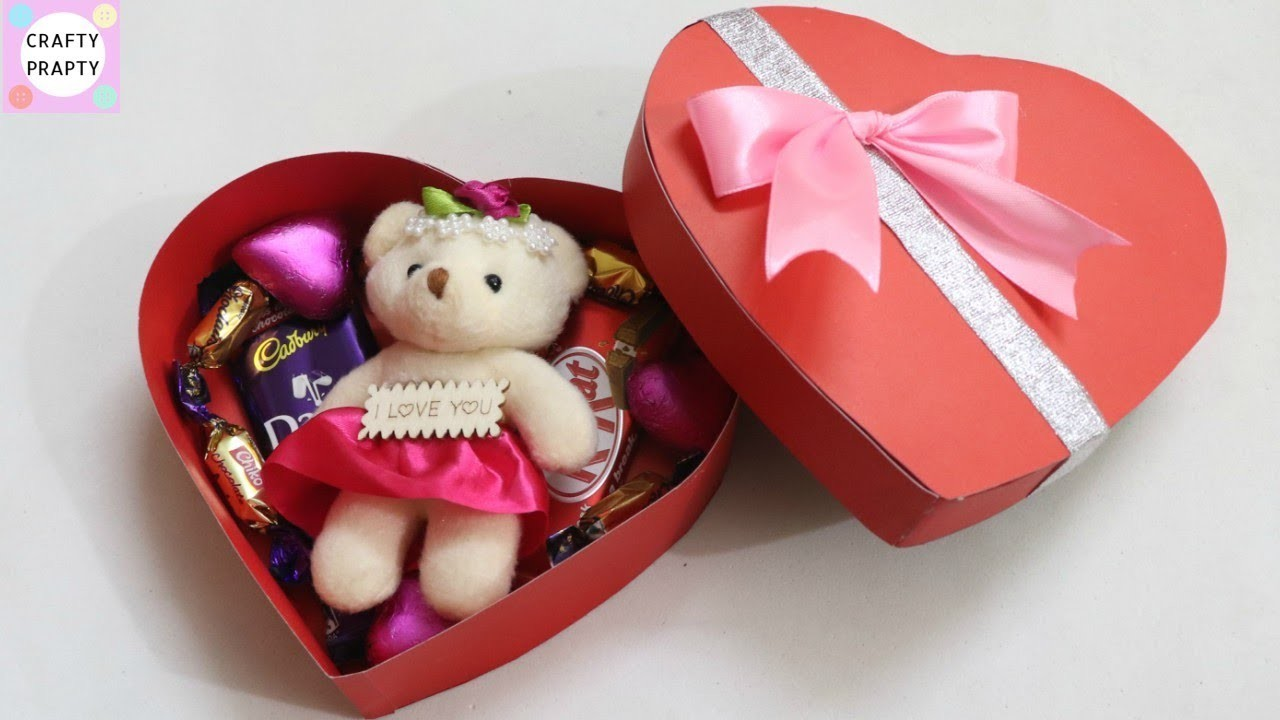 DIY Valentine's day gift Idea. DIY Heart shape Box. How to make chocolate box. DIY Love box