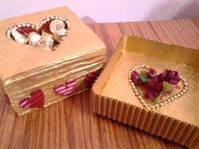 DIY Valentine Special Gift Box Out Of Waste Cardboard