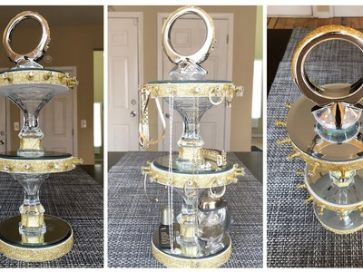 Dollar Tree DIY - ???? Gold Jewelry Holder.Organizer ????