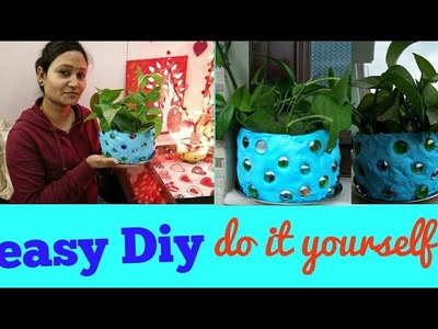Easy Diy,Do it yourself,plant pot,anvesha,s creativity