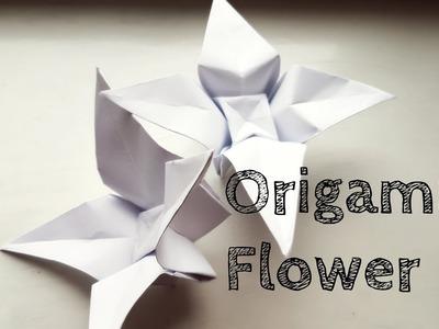 Easy Origami Flower Video Tutorial
