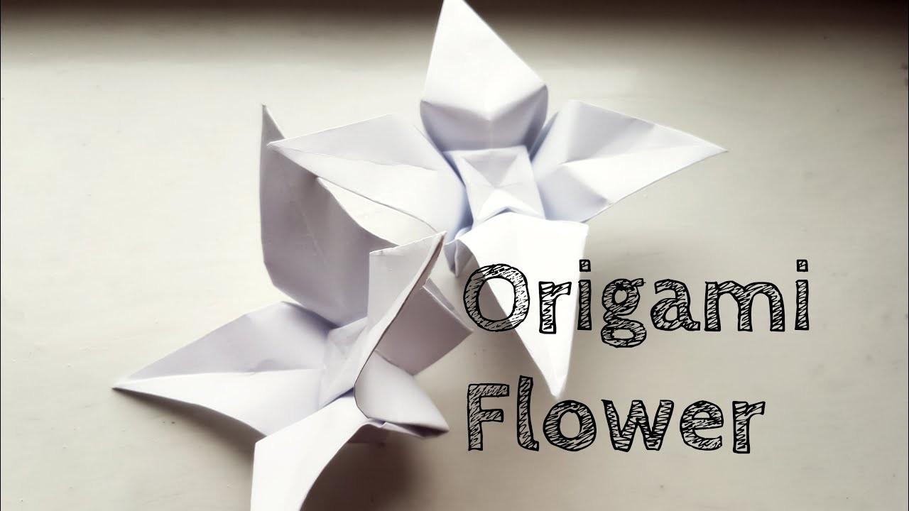 Easy origami flower video tutorial mightylinksfo