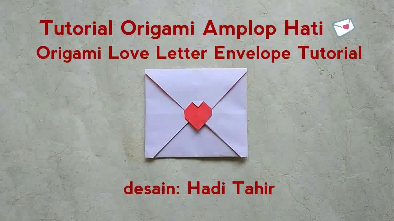 Easy Origami Love Letter Heart Envelope Tutorial