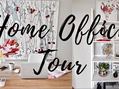 Home Office Tour | DIY Wall Art