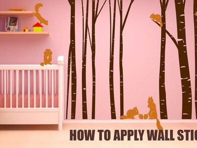 How To Apply Wall Sticker | Tutorial | Easy Shopping BD