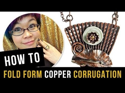 How to Fold Form Copper - Corrugation - Microfold Brake Tutorial