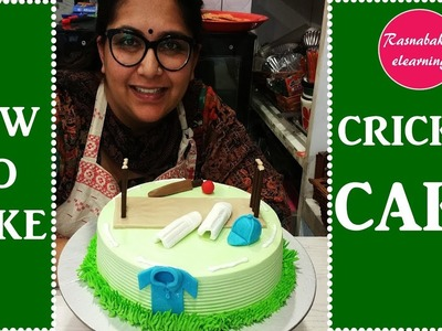 How to make cricket cake : cake decorating tutorial
